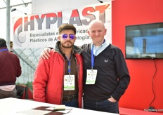 Tom de Smet (on the right) of Hyplast with his Mexican colleague.