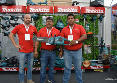 Ramon, Hugo and Cubertino of Maquita, introducing their new product.