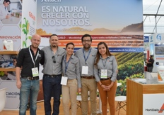 Dennis (of DQ Hortisoluciones) and Francisco, Karla, Emanuel and Lucero of Alltech.