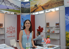 Eva Velazcez of Canada Booth.