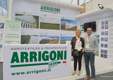 Patrizia Giuliani and Giuseppe Netti of Arrigoni, to promote their high-tech insect proof screen.