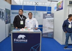 Luis Saluzar and Sergio Camacho of Fricomsa.