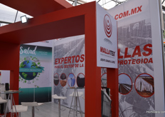 The booth of Mallatex, Grupo Criado y Lopez.