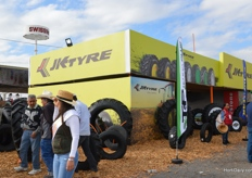 JK Tyre booth.