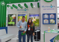 Cesar Calderon Pia and Valeria Flores of MF Nutrigota.