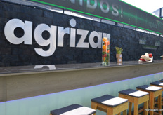The beautifull booth of Agrizar with nice snacks.