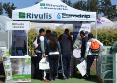 Busy at the booth of Rivulis and Eurodrip.