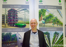 Eelco Wolthuizen from Metazet Zwethove B.V. Metazet supplies a range of cultivation and support materials for modern glasshouse horticulture according to Western standards.