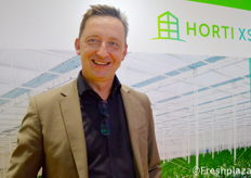 Robert van der Lans from Horti XS. They are a total solution greenhouse specialist.