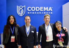 Nana Wang, Jelmer Huizing, Just Roos and Lulu Wang from Codema. They provide custom-made horticulture solutions worldwide.