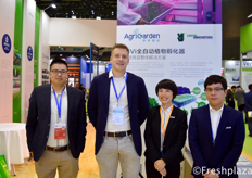 Adam Wang from Viscon China, Daan Mansveld from Vivi, Laurie and Minghong Li from AgriGarden. AgriGarden operates as a full service contractor. They participate in modern agriculture projects from the very beginning to the operation of the projects.