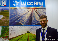 Matteo Lucchini from Idromeccanica Lucchini. They are specialised in the production of greenhouses covered in plastic material for horticulture and floriculture, complete with the irrigation and heating systems with computerized control.