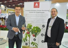 Gints Antoms Adil Mftoǧlu with Aranet. The company is relatively new in the industry and has been asked by growers to join since they offer a broad knowledge on measuring devices sensor techniques.