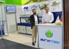 Ahmet Kocabas Leonid Klimov with Ayrikmak, offering automation solutions including sowing machines for the greenhouse industry