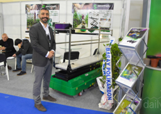 Ali Yalcin with Seomak Technology. Their greenhouse carts are send out globally.