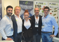 Vincenzo Russo Stefano Liporace with Vifra, Philip Eekma with Patron Agro Systems Andrea Bonroposi with P-tre