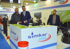 Mehmet Trker and his client of Simkar Plastik.