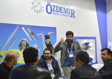 It was busy at the booth of Ozdemir.