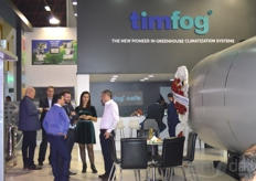 Busy at the booth of Timfog.