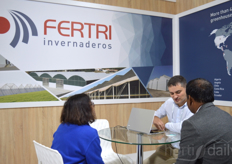 Toms Pernas is busy at the booth of Fertri Invernaderos.