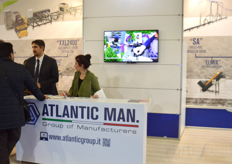 Busy at the booth of Atlantic Man.