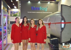 The hostesses of Timfog.