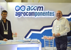 Emre and Pedro ofACOM Agrocomponentes.