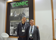 Miquel Ribera with Conic Systems Haluk Atamal, with Haluk Atamal - Turkish greenhouse supplier