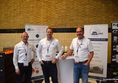 Joost Hovens, Thomas Verburg and Gerard Schepers with Cindro, offering cleaning solutions to water systems.