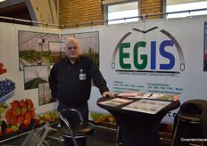 Peter Jacobs with greenhouse supplier Egis