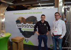 Wim Voogt (Klep Substrate Optimaal) and Roel Bloemert (ICL Specialty Fertilizers)