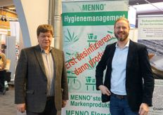 Laurents Kempkes Christian Eidam from Menno Chemie, manufacturer of disinfection products