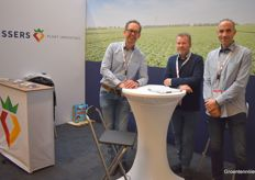 Bert de Vries, Albert Konings Raoul Heijnen with Vissers Plant Innovators