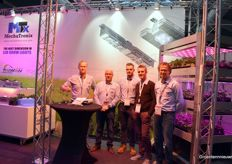The Team of MechaTronix with Patrick Casteleyn Koen vanGorp. They're a new player in the market of LEDs and are supplying their products to high-tech growers.