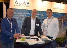 Frits van Dijkman with ABAB is literally surrounded by the Bank. Ren Dekkers and Ruud Matthijsen are with Rabobank Food and Agriteam Midden-West Brabant