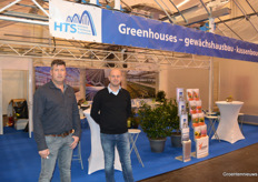 Berry Zuiderwijk and Peter Tanke (Holland Tuinbouw Systemen) under the Sunroof TD, a cabriolet greenhouse.