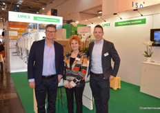 Malcolm Calder (Transplant Systems), Gertie Rongen (Limex Cleaning Solutions) and Joep Janssen (Limex Cleaning Solutions).