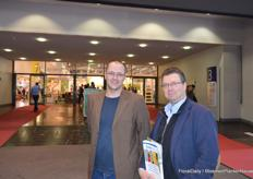 Geoffrey Geluk and Fred van Veldhoven of Benfried. Geoffrey has just started his new job at Benfried.