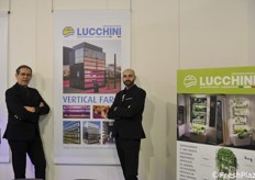 Gian Paolo Menarello and Mattia Battistello with Idromeccanica Lucchini, a vertical farm pioneer company