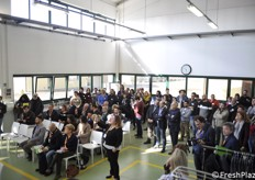 The employees of the Sant'Agada Bolognese office participated in the inauguration ceremony, as well