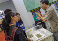The Vietnamese academy of agricultural sciences showed their research projects.