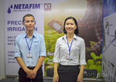 Lam Dinh Hong Thuy Dinn Thi Mong with Netafim, providing irrigation solutions.