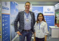 Olaf Mos with Gakon interpreter Hong Thi Ho.