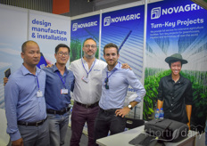 Pascual Miralles with Novagric welcomes visitors in his booth. Novagric is the brand of Novedades Agricolas which has been launched because of the company 40th anniversary. Internationally the company was also known as APR, which is the companys brand of greenhouses.