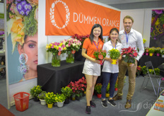Dmmen Orange Asia joined for this years HortEx. Here's the team with Jinwen Zhou, Hang Li Jim Koop.
