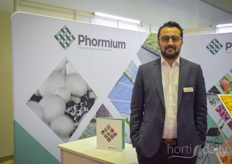Tayyar Erzurumlu with Phormium travels all over to keep growers in Middle East, East Africa Asia updated on the benefits of screens.
