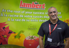 Richard de Quesada with Lambert, all the way from Canada to tell growers more about hydroponic growing the Lambert solutions