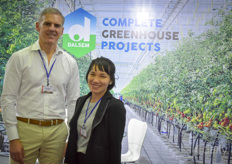 Marc Broeren with Dalsem Greenhouse Projects the Vietnamese interpretator helping him out in the Vietnamese market.