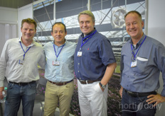 Kasper Rietvelt with Anthura, Manuel Guerrero (Asthor), Kick Jansen (Luiten Greenhouses) Jan Hoogewoning, (Ridder).