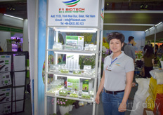 Duong Hoang with F1 Biotech. The laboratory provides various services for tissue breeding.
